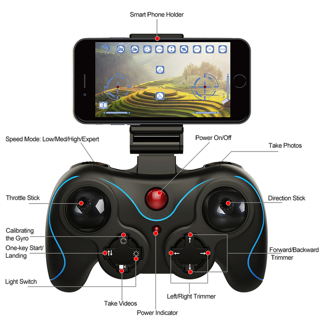 Holy Stone HS160 Shadow Drone - 720P HD Wi-Fi Live Video Feed - Beginners 5