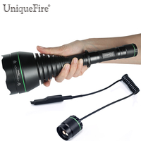UniqueFire Powerful IR Hunting Flashlight UF 1508 T75 850nm Led Zoomable Lens Tactical Flashlight Lamp with a Rat Tail Switch