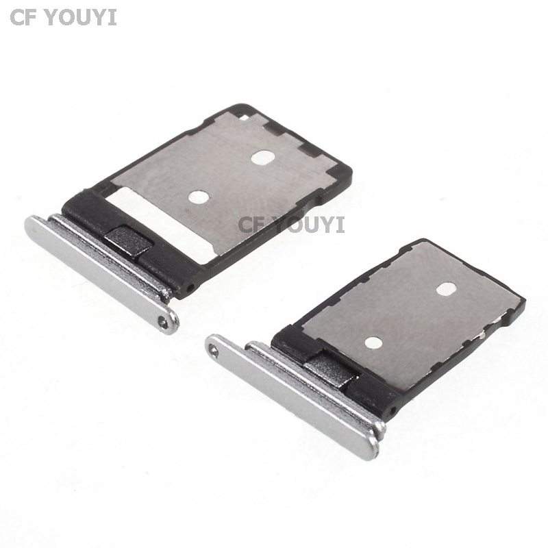 CFYOUYI SIM + Micro SD Card Tray Holder Set Part For HTC One A9 - Grey/Silver/Pink