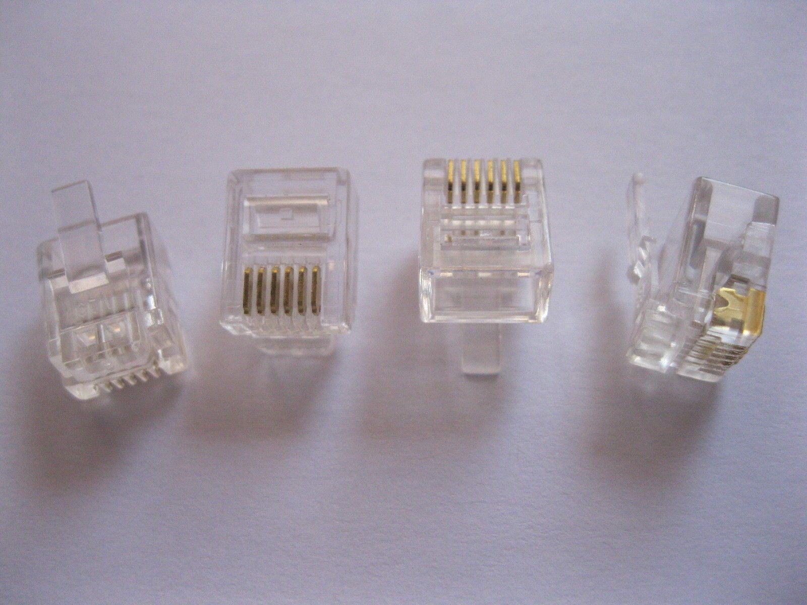 цена на 100 pcs RJ11 6P6C Modular Plug Telephone Connector