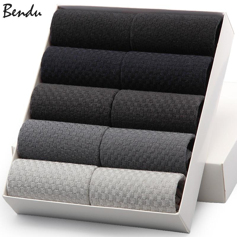 2018 Bendu Brand Guarantee Men Bamboo Socks 10 Pairs / Lot Brethable Anti-Bacterial Deodorant High Quality Guarantee Man Sock