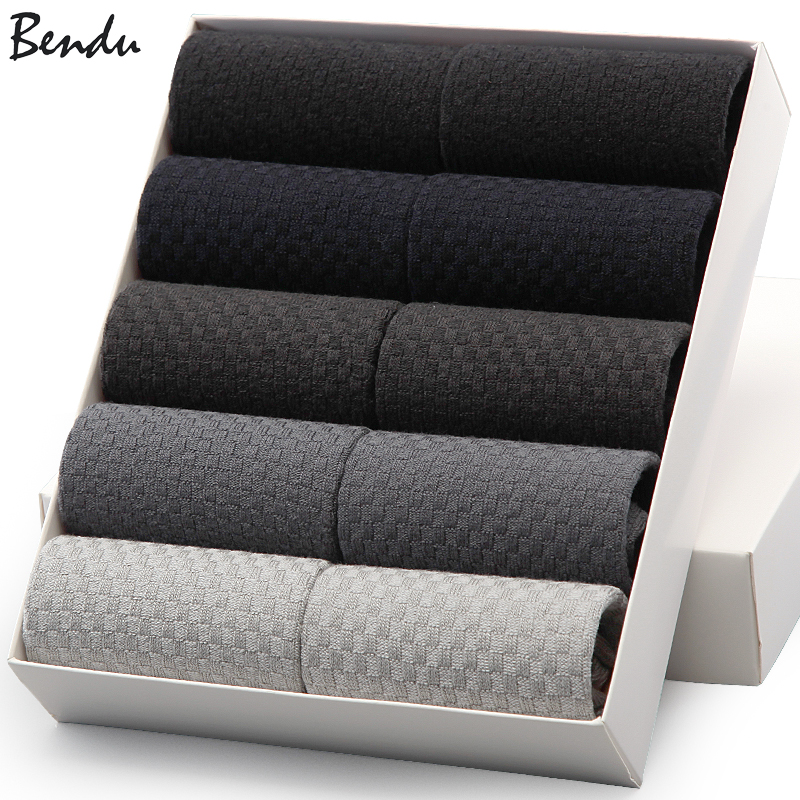 2019 Bendu Brand Guarantee Men Bamboo Socks 10 Pairs / Lot Brethable Anti-Bacterial Deodorant High Quality Guarantee Man Sock