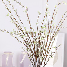 Flone искусственные серебряные ивовые фрукты имитация растений ветка дерева серебряные ивовые Цветы Свадебные вечерние украшения для дома художественная композиция