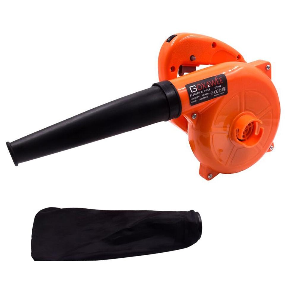 GOXAWEE 220V 6 vitesses souffleur d'air électrique soufflant sous vide collecteur de poussière souffleur de feuilles de main 2 en 1 ventilateur ordinateur nettoyeur 1.4m câble