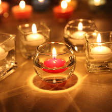 10pcsbox colors floating wedding candles round shape floating candle home party decoration