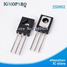 50 개/몫 Triode 트랜지스터 D882 2SD882 3A/40V TO 126 NPN 전력 Triode 새로운 원본