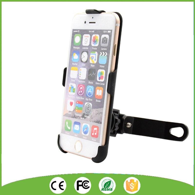 <font><b>Scooter</b></font> Cell <font><b>Phone</b></font> Mount <font><b>Holder</b></font> Mirror Mount Rear View <font><b>Phone</b></font> <font><b>Holder</b></font> for iPhone 6/6S/7