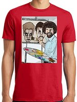 Gildan Harajuku Tshirt Men S Bob Ross Painting Zombie Beavis And Butthead Parody 3D Printed Tee
