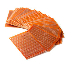 20 pces que soldam o protótipo terminado do pwb para placas de circuito diy 5x7 cm de cobre