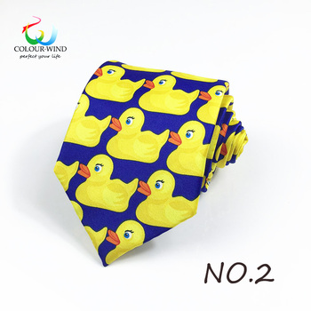 Duck Printed Design Polyester Ducky Tie Printed Professional Necktie How I Met Your Mother TV Show Yellow Rubber Duck Tie Gift