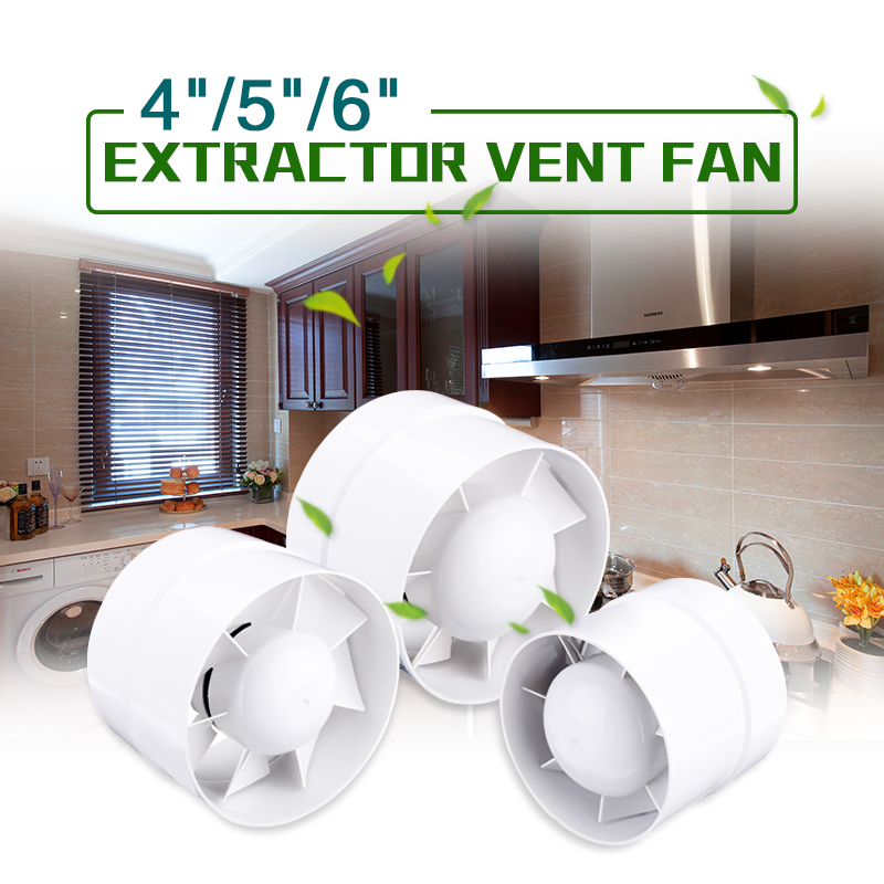 4 5 6 220v Inline Ducted Fan Booster Exhaust Extractor Fan