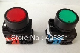 AR22FOL-11 Momentary Flush Push Button Switch With Pilot lamp 1N/O+1N/C 22MM Spring Return