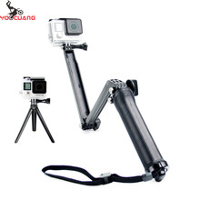 YOOCUANG For GoPro Monopod Collapsible 3 Way Monopod Mount Camera Grip Extension Arm Tripod Stand for Gopro Hero 5 4 3+ YX238