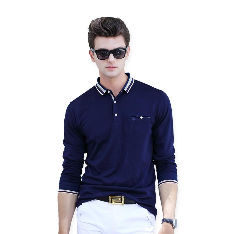 AIRGRACIAS   Polo   Shirt Men Solid Color   POLO   Shirts Cotton Long Sleeve Slim Fit Camisas   Polo   Male   Polo   Shirt Tops Size M-3XL