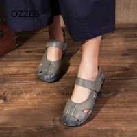 Shoes Women Casual Sandals Genuine Leather Shoes Flat Hand Made Women S Sandals Soft Comfort Ladies