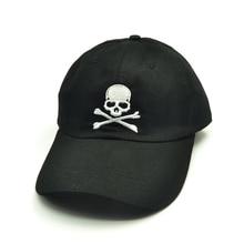 цена на Hot Sale Unisex Baseball Cap skull embroidery hat cotton men women Adjustable Outdoor Travel Hats