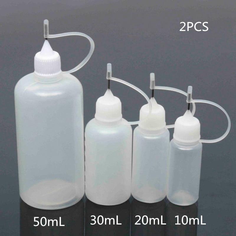 2pcs 15ml/20ml/30ml/50ml Plastic Dropper Bottle With Childproof Cap Long Thin Needle Tip 100ml Empty Liquid Bottle