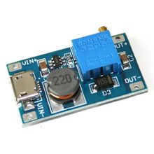 MT3608 DC-DC Adjustable Boost Module 2A Boost Plate Step Up Module Micro USB 2V-24V to 5V 9V 12V 28V LM2577 Replace XL6009(China)