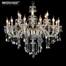 New Arrival Cognac Glass Crystal Chandelier Lamp Style of  Palace Cristal Pendelleuchte with 8 Lights MD3148
