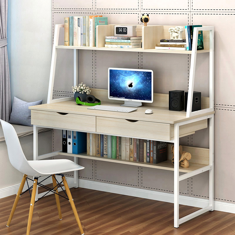 LK1659 Home Writing Simple Desktop Computer Desk Simple Laptop Table With Drawers Combination Desk Cheap Bookshelf 80/120cm