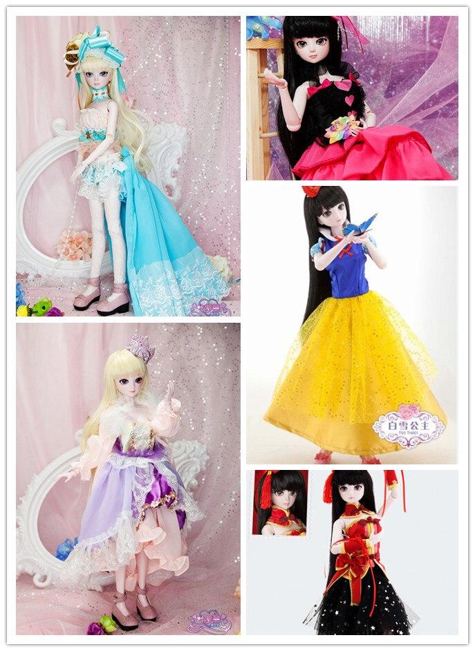 19 ''BJD poupée 50 cm SD princesse résine Joint Cosplay Rapunzel robe avec des vêtements chaussure maquillage mode poupée pour fille