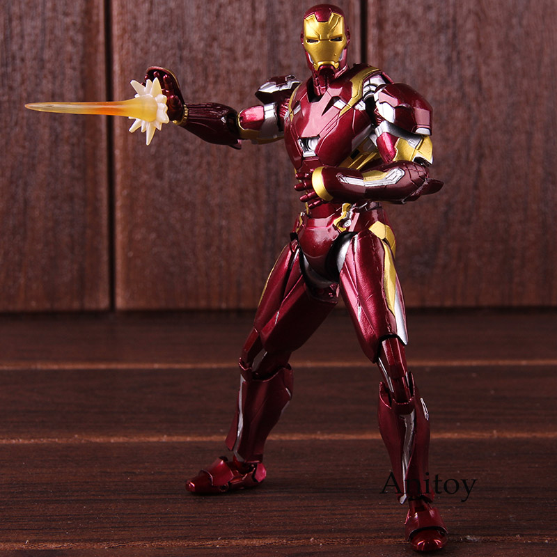 SHF Iron Man MK46 Captain America Civil War Figure Action PVC Collectible Model Toy image