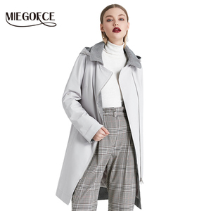 Image 3 - MIEGOFCE 2019 New Product Trench Spring Autumn Female Windproof Warm Female Coat European and American Model Windbreaker