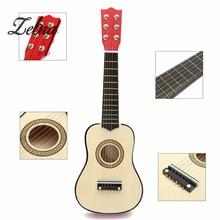 Zebra 21 inch Wooden 6 Strings Acoustic Guitar Guitarra Ukulele for Musical Instrument Beginners Kids+Guitar Pick+Strings