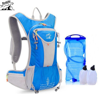 TANLUHU Men Women Nylon Running Backpack 15L Hydration Ultralight Breathable Cycling Hiking Marathon Water Bag