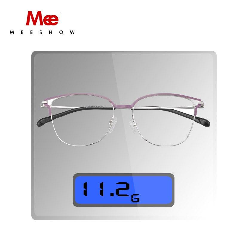 2019 Meeshow prescription lunettes titane alliage femmes lunettes oculos de grau feminino armacao lunettes vintage cadre nouveau - 6