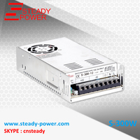 China Wholesaler Manufacturer Smps Transformer 220v To 12V 12V 25A 300W Switching Power Supply Led Power