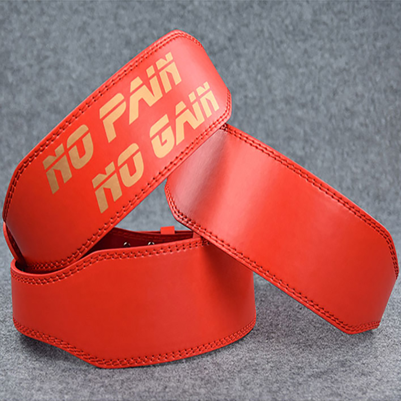 Red PU Leather  Weight Lifting Belt Gym Crossfit Fitness Lower Back Support Weightlifting Belts