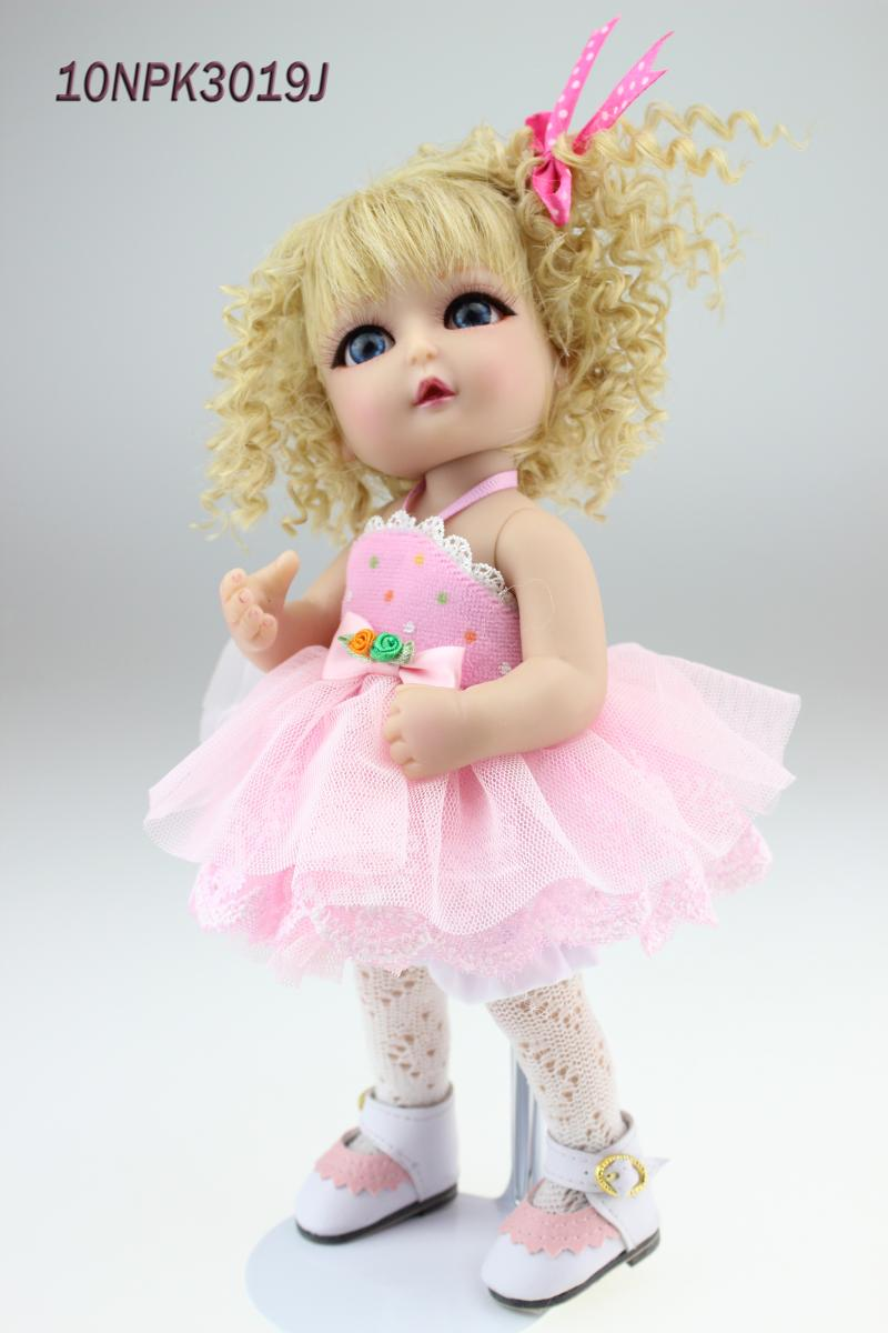 2016 New SD/BJD Doll Reborn Cute Dolls 10 inches Babies Realistic Doll Handmade Full Vinyl for Kids Gift doll reborn princess18 inches american girl dolls babies realistic doll cute doll handmade full vinyl gift for children