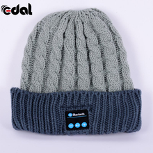 Portable Wireless Bluetooth Smart Cap  Soft Warm Beanie Hat Headphone Headset Speaker Mic Hot 3 Colors