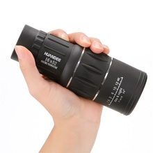 check price HUANDEE 16X52 Nitrogen waterproof all-optical green film monocular telescope for travel Hunting Monocular zoom HD Telescopes Sale Best Quality
