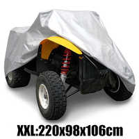 1 pc XXL 190 T Impermeabile Anti-Uv Antipolvere Quad Atv Copertura Per Polaris Hon-da Per Yamaha Su -Zuki Argento ATV Quad Bike Copertura