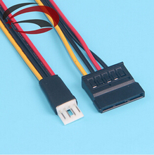 1pcs---4Pin FDD Floppy Male to 15Pin SATA Female Adapter Converter Hard Drive Power Cable Cord 20cm