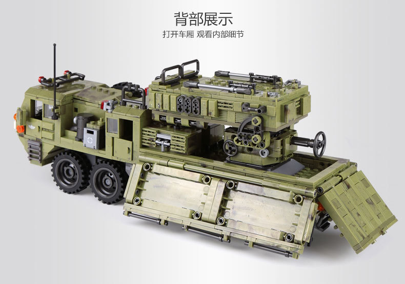 1377Pcs XINGBAO Building Blocks Toys легоe military 06014 Cross The Battlefield Series Bricks Truck Model Gift for Children 4PX 26