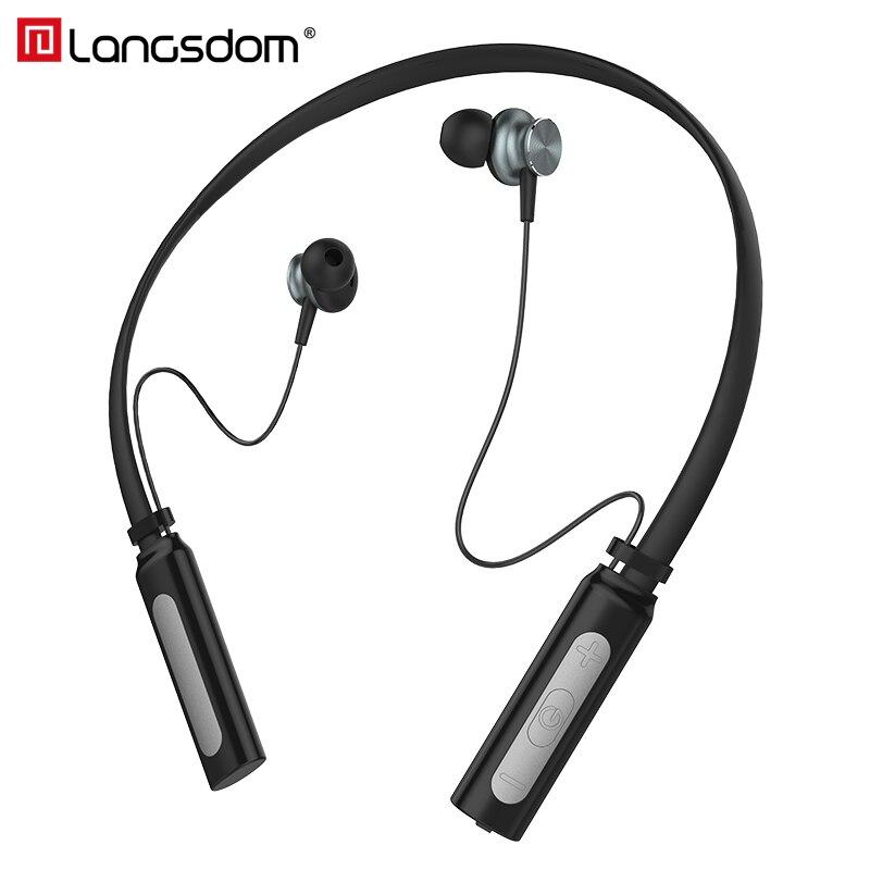 Langsdom L9 Neckband Bluetooth Kopfhörer mit Mic IPX4 Wasserdichte Sport Drahtlose Kopfhörer Bluetooth für telefon iPhone xiaomi