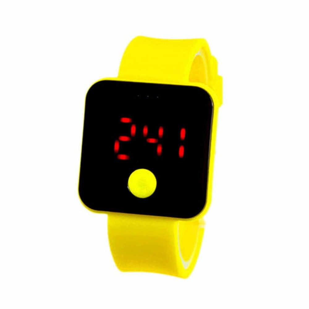 Montre intelligente hommes élégants fille Silicone montres numériques LED sport acrylique Ultra mince lumière montre-bracelet dames horloge #15