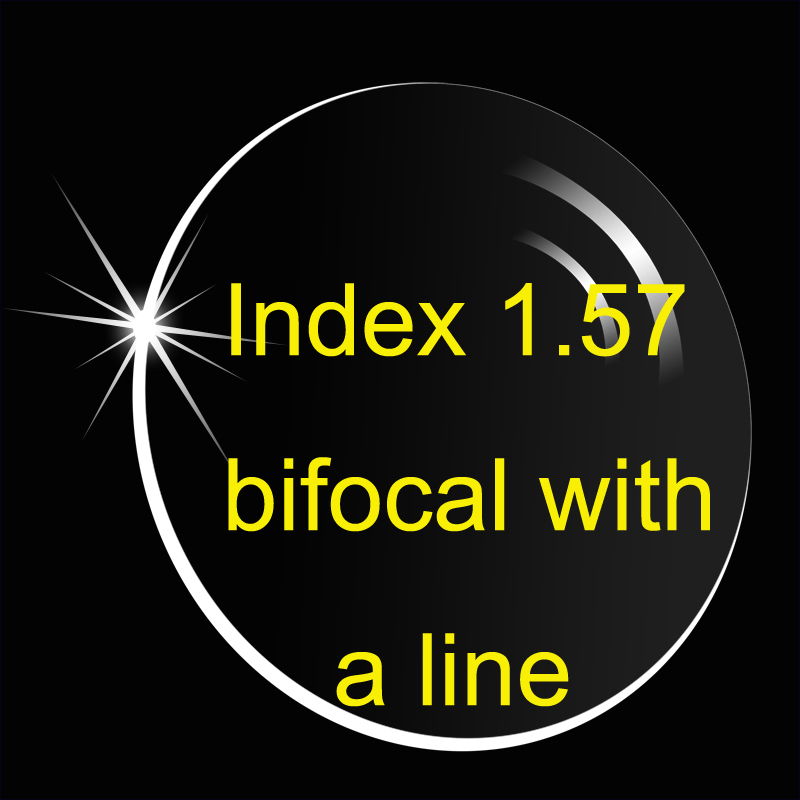 Lined Bifocal lense Index 1 56 anti reflective and anti scratch Round top Flat top Prescription