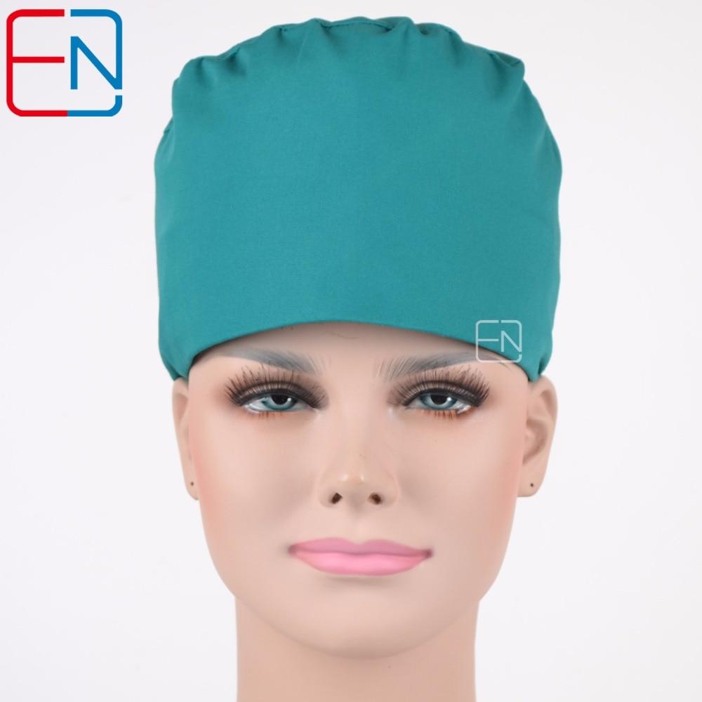 Hennar Men Hospital Surgical Caps Solid Cotton Women Adjustable Medical Cap Doctors Nurses Anesthetist Caps Accesssories Unisex