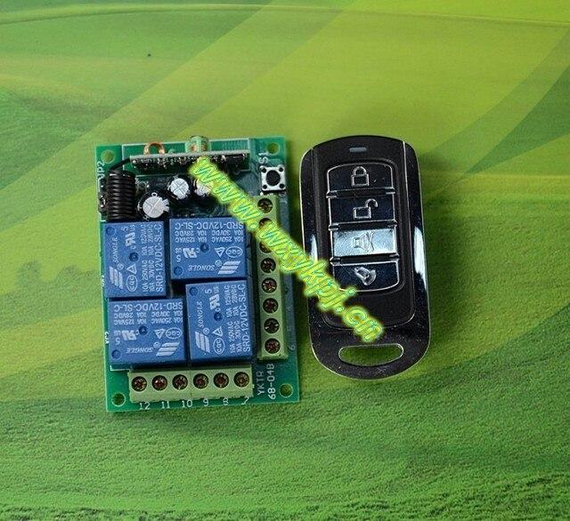 AC 12V 4CH RF Wireless Remote Control System 433mhz home ...