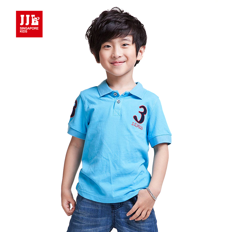 Boy Polo Shirt Short Sleeve Kids T Shirts Summer Children