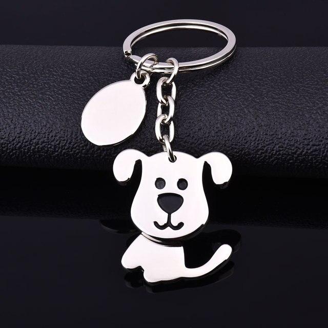 dog keychain cute key ring for women puppy key chain key holder high quality por