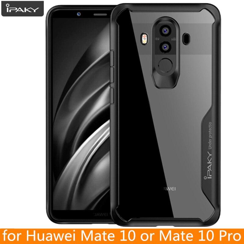 Para Huawei mate 10 caso original ipaky mate 10 acrílico silicona híbrido a prueba de golpes transparente para Huawei mate 10 Pro caso
