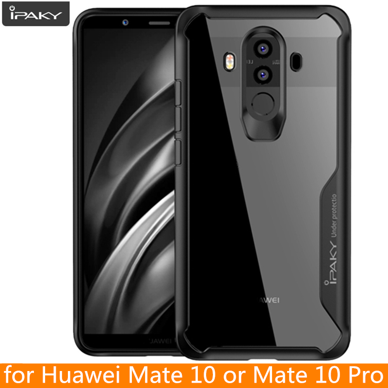 for Huawei Mate 10 Case Original IPAKY Mate 10 Silicone Acrylic Hybrid Shockproof Transparent Case for Huawei Mate 10 Pro Case
