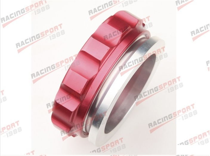 1.5 38.1mm ID Aluminium Alloy Weld On Filler Neck And Cap Oil, Fuel, Water Tank Red