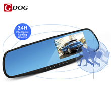 Full HD 1080P 4.3″ HD LED Screen Car DVR Camera Mirror Dual Lens Camera Mirror With Rearview Camera Parking Monitor free ship