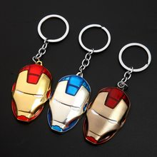 1pcs metal Superhero Keychain Men Trinket Key Chain V for Vendetta Iron Man Key Ring Holder Jewelry Gift Souvenirs(China)